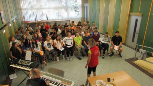 Hudební soustředění 8.B a 9.B v Blansku